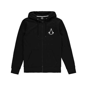 Assassins Creed Valhalla Hoodie Crest Banner new Official Mens Black Zipped