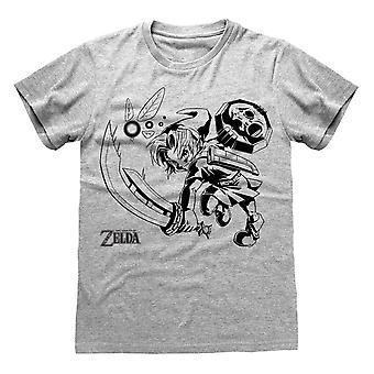 Nintendo Unisex Adult Link and Navi Legend Of Zelda T-Shirt