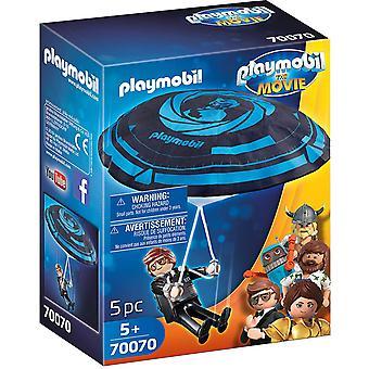 Playmobil Filmen Rex Dasher med faldskærm