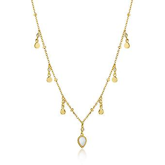 Ania Haie Silver Shiny Gold Plated Dream Drop Discs Necklace N016-02G