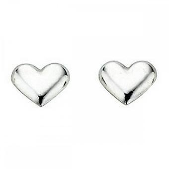 بدايات الجنيه الاسترليني الفضة A858 صغير القلب مسمار الأقراط