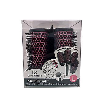 "Olivia Garden Multibrush Detachable Thermal Styling Brush Kit 4 x 1 3/4"" (46 mm)"