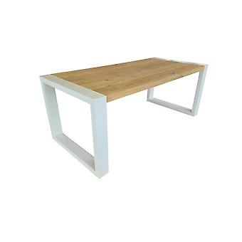 Wood4you - Esstisch New Jersey Oak 180Lx78Hx96D cm weiß