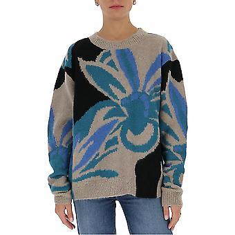 Dries Van Noten 112481718103 Women's Beige Wool Sweater