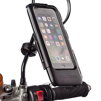 Iphone 6 7 8 / plus mirror mount motorcycle tough case kit