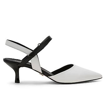 Chanel Carmens Demi Strap Black and White