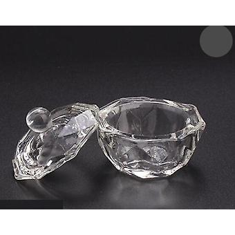 Crystal Glass Dappen Dish Lid Bowl Cup Holder -manicure Equipment For Nail