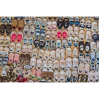 Baby Shoes III Poster Print by Kathy Mahan