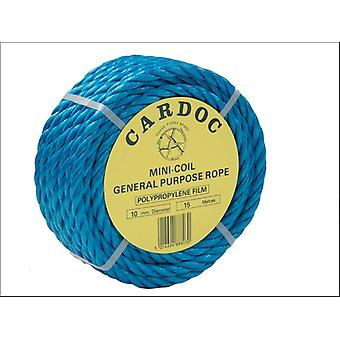 Kent & Co Twines Polypropylene Mini Coil Rope Blue 6mm x 30m