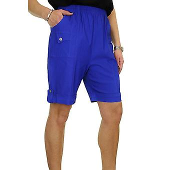 Femmes's Confortable Élastique Taille Shorts Dames Casual Stretch Haute Taille Taille Courte Taille 8