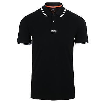 Hugo boss men's black pchup polo shirt