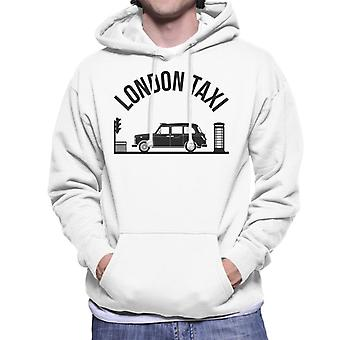 London Taxi Company TX4 At Traffic Lights Men's Hooded Sweatshirt