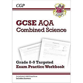Ny GCSE kombineret videnskab AQA grade 8-9 målrettet eksamen øvelse arbejdsbog (inkluderer svar)