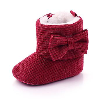 Παπούτσια μωρών, μαλακές μόνες μπότες χιονιού χειμώνα λείας θερμές