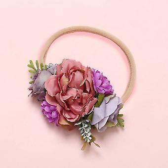 Fashion Florals Newborn Baby Elastic Princess Hairbands