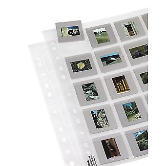 Hama mâneci de depozitare slide, fiecare ținând 20 de tobogane montate 5 x 5 cm (pachet de 25)