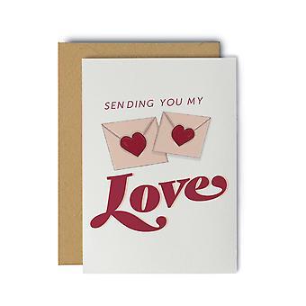 Sending You My Love Greeting Card
