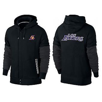 Los Angeles Lakers Buttoned zipper sports hooded loose sweatshirt sportswear WT003