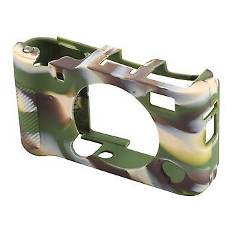 Mäkké silikónové ochranné puzdro pre FUJIFILM X-A5 (Kamufláž)