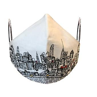 Philadelphia Embroidered Skyline Fashionable Face Mask