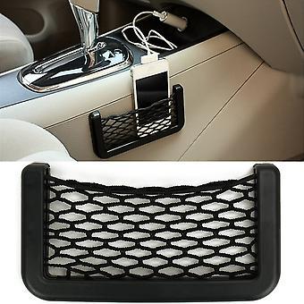 Bolsa de almacenamiento de automóviles Auto Organizer Elastic Flexible Malla Net Pocket Cage Adhesivo