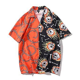 Printed Short Sleeve Shirt Men Street Beach Women Fashion Shirt