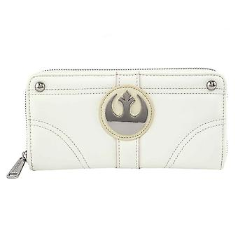 Star Wars Zip Autour de Purse Princess Leia Hoth nouveau Loungefly officiel