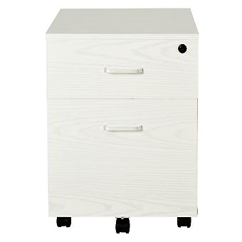 Vinsetto 2-Drawer Locking Office Filing Cabinet w/ 5 Wheels Rolling Storage Hanging Legal Letter Files Cupboard Home Organisation White