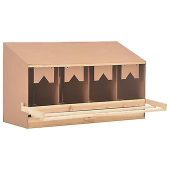 vidaXL Legend of Chicken Nest 4 compartments 106 x 40 x 59 cm Solid wood pine
