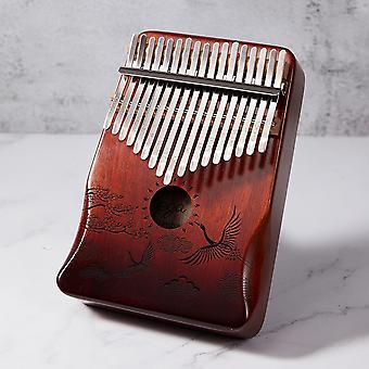 カリンバ17キーマホガニー親指ピアノムビラ楽器