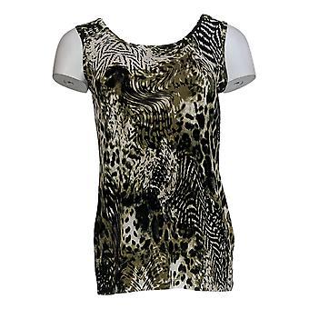 Attitudes by Renee Women's Petite Top Wardrobe Warrior Green A381585