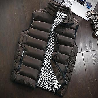 Vinter mote casual slanke jakker merke klær bomullpolstret vest