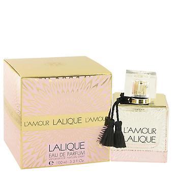 L ' Amour de Lalique Eau De Parfum Spray por Lalique 3.3 oz Eau De Parfum Spray