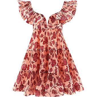 Zimmermann 9772dandgbr Women's Pink Polyester Dress