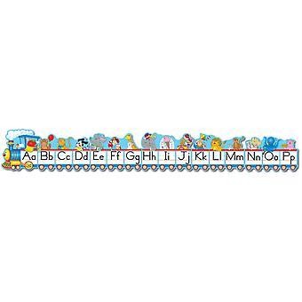 Alphabet Train Bulletin Board Set, traditionelle Manuskript