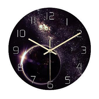 Cc022 creative starry padrão de parede relógio de parede mudo relógio de parede relógio de parede para decorações home office