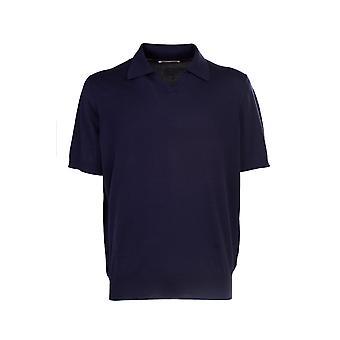 Brunello Cucinelli M29800145c2425 Hombres's camiseta polo de algodón azul