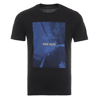 True Religion Palm Tree T-Shirt - Black