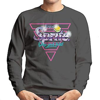 Sprite Infill Palm Trees Horizon Logo Men's Sweatshirt