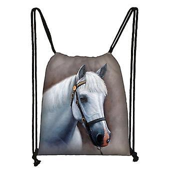 Animal Print Drawstring Storage Bag