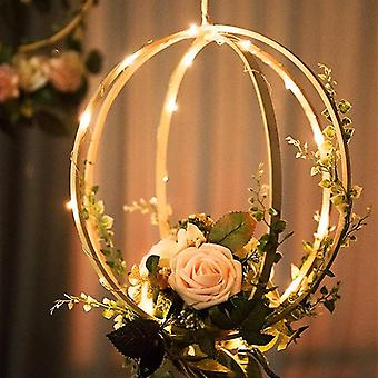 10-40cm Diy Hanging Wreath Rattan Bamboo Metal Wreath Iron Ring Hoop Door