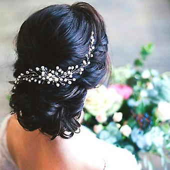 Estilo hecho a mano perla horquilla novia sombrero peinado adornos de joyería