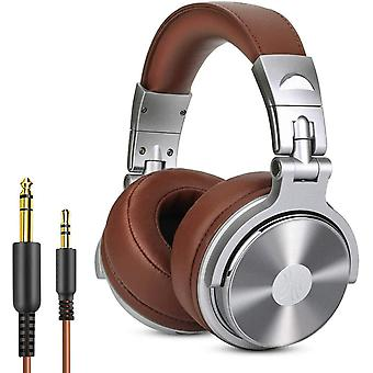 Adapter-free Closed-Back DJ Studio Headphones for Monitoring and Mixing