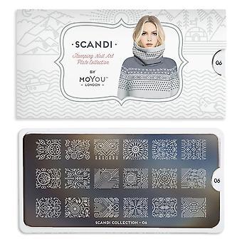 MoYou London Nail Art Image Plate - Scandi 06 (692586)