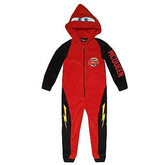 Disney cars kids pyjama overall in coral fleece car2009rob