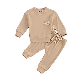 Baby Clothing Suits Autumn Casual Sets Kids Embroidery Sweatshirts Sports Pants