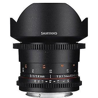 Samyang syds14m-mft vdslr ii 14mm t3.1 lentille cine grand angle pour olympus /panasonic micro 4/3 caméras