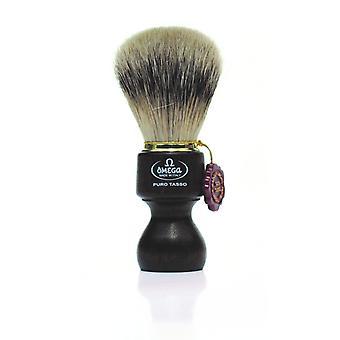 אומגה טהור גירית שיער גילוח מברשת #463 ידית עץ ברזילאי (m)