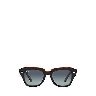 Ray-Ban RB2186 nero su occhiali da sole unisex marrone trasparente