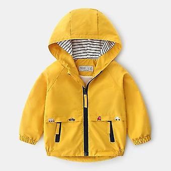Children Winter Fleece Jackets With Pocket Zipper Hooded Windbreaker